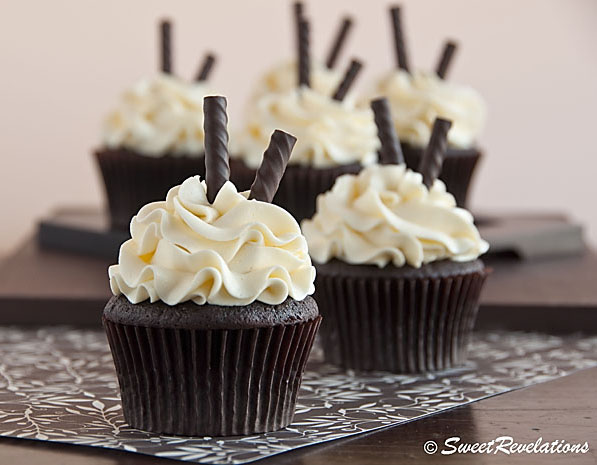 First, make some of these Dark Chocolate Cupcakes , without the added ...