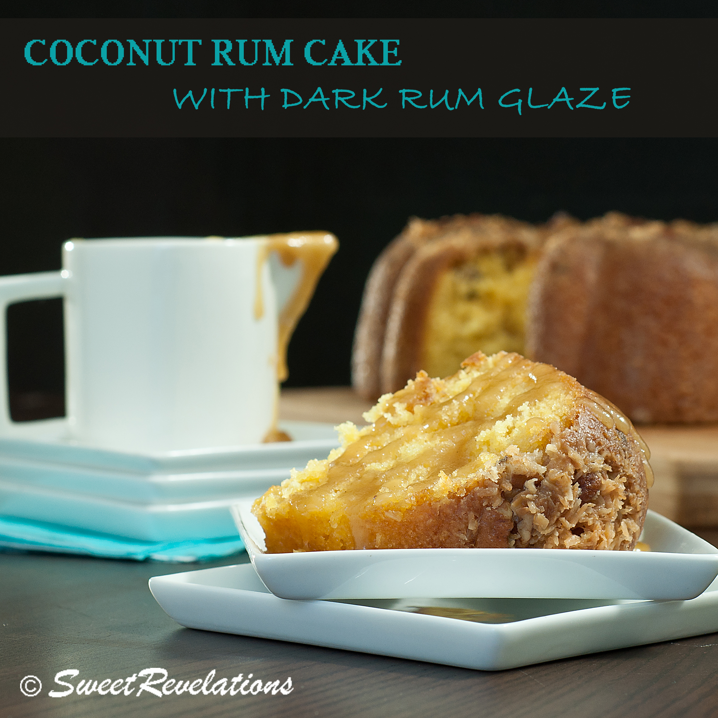Coconut Rum Cake With Dark Rum Butter Glaze