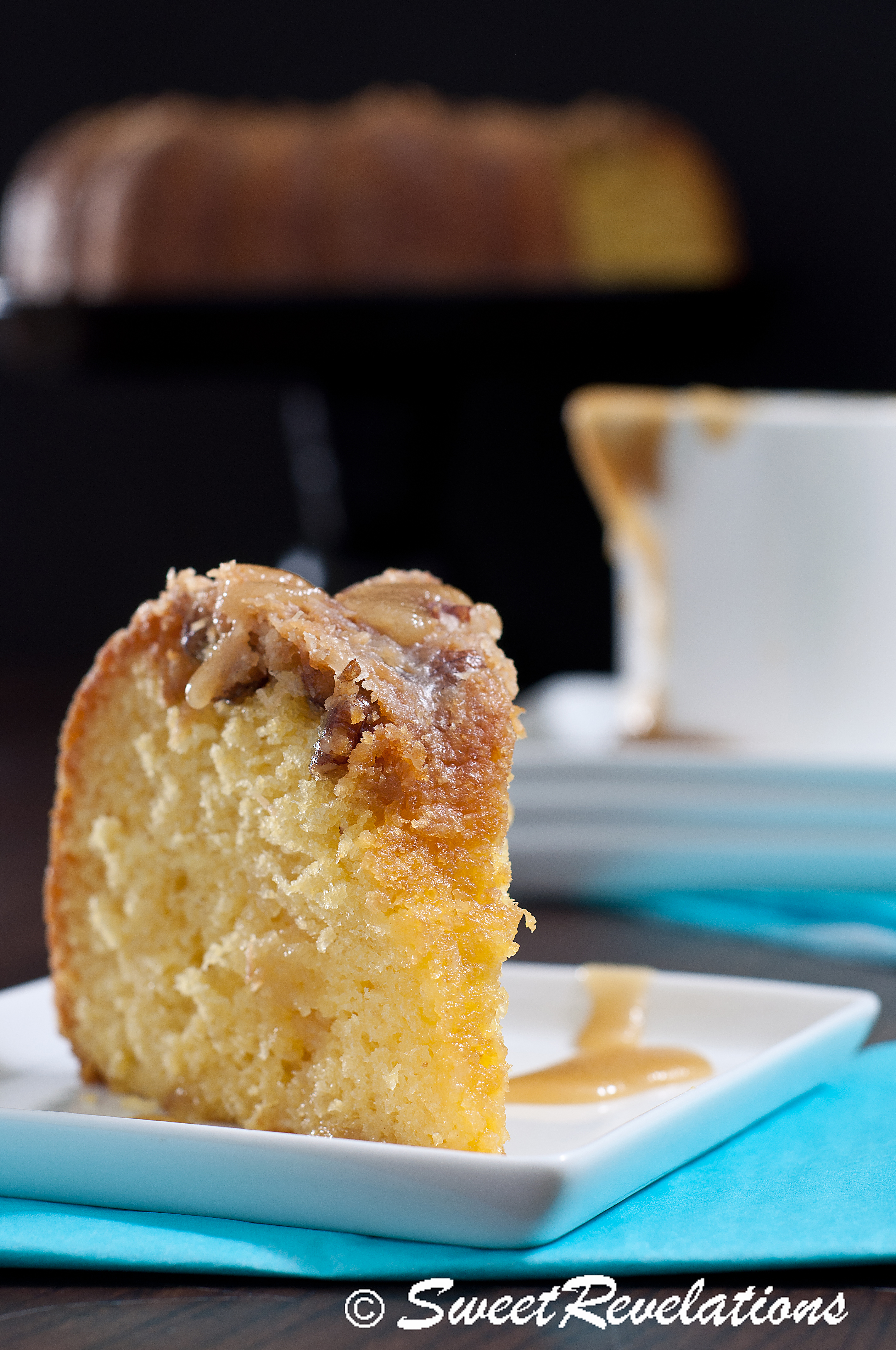 Coconut Rum Cake with Dark Rum Butter Glaze | SweetRevelations