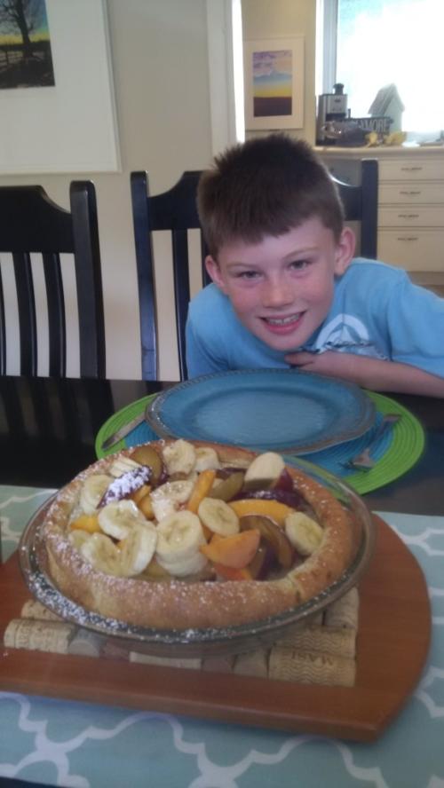 Finished pancake