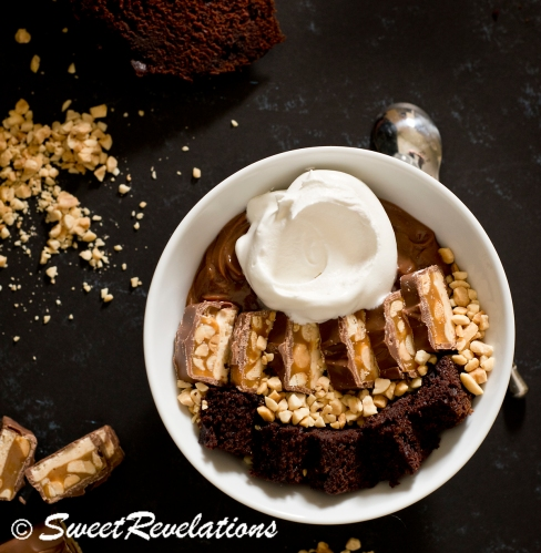 SweetRevelations Snickers Trifle Bowl