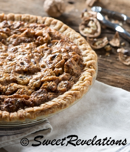 Salty Walnut Chocolate Pie via SweetRevelations