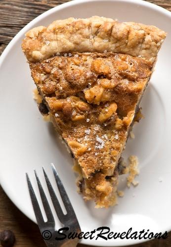 Salty Walnut Chocolate Pie