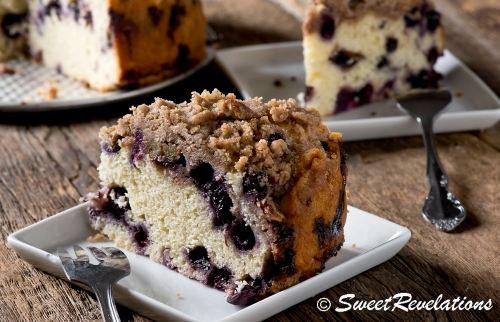 Blueberry Coffee Cake made with Homemade Yogurt via SweetRevelations