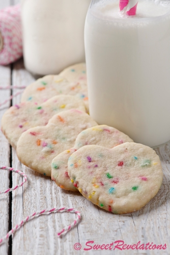 Heart-Shaped Sprinkle Cookie via SweetRevelations
