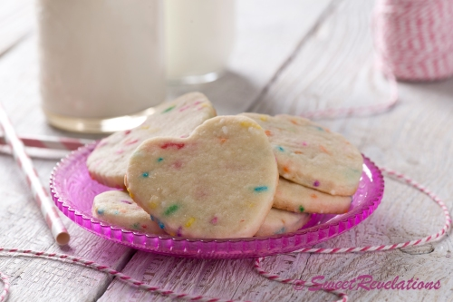 Heart Sprinkle Cookies via SweetRevelations