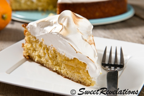 Flourless Meyer Lemon Meringue Cake via SweetRevelations