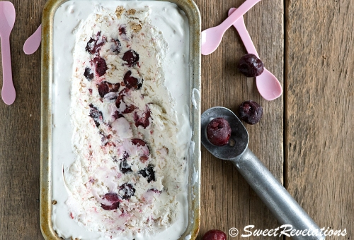 Cherry Crisp Ice Cream via SweetRevelations